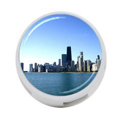 Chicago Skyline 4 Port Usb Hub (two Sides) by canvasngiftshop
