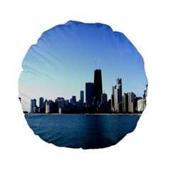 Chicago Skyline 15  Premium Round Cushion