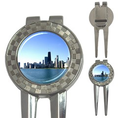 Chicago Skyline Golf Pitchfork & Ball Marker by canvasngiftshop