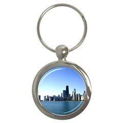 Chicago Skyline Key Chain (Round)