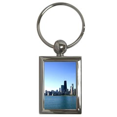 Chicago Skyline Key Chain (Rectangle)