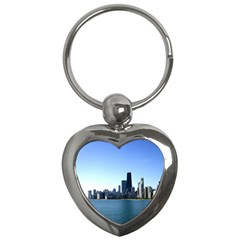 Chicago Skyline Key Chain (Heart)