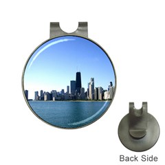Chicago Skyline Hat Clip with Golf Ball Marker
