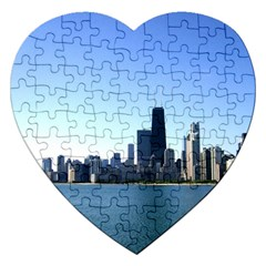 Chicago Skyline Jigsaw Puzzle (Heart)