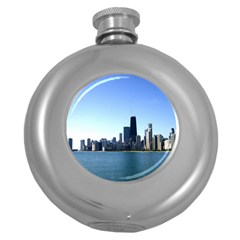 Chicago Skyline Hip Flask (Round)