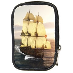 French Warship Compact Camera Leather Case by gatterwe
