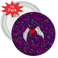 Your Heart Has Wings So Fly   Updated 3  Button (10 Pack) by KurisutsuresRandoms