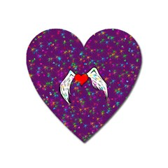 Your Heart Has Wings So Fly   Updated Magnet (heart) by KurisutsuresRandoms