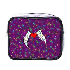 Your Heart Has Wings So Fly   Updated Mini Travel Toiletry Bag (one Side) by KurisutsuresRandoms