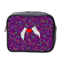 Your Heart Has Wings So Fly   Updated Mini Travel Toiletry Bag (two Sides) by KurisutsuresRandoms