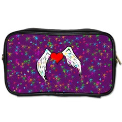 Your Heart Has Wings So Fly   Updated Travel Toiletry Bag (two Sides) by KurisutsuresRandoms