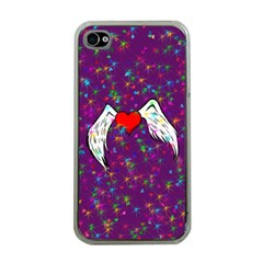 Your Heart Has Wings So Fly   Updated Apple Iphone 4 Case (clear)