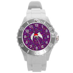 Your Heart Has Wings So Fly   Updated Plastic Sport Watch (large) by KurisutsuresRandoms