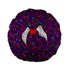 Your Heart Has Wings So Fly - Updated 15  Premium Round Cushion  by KurisutsuresRandoms