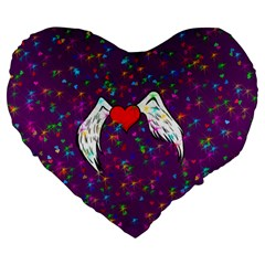 Your Heart Has Wings So Fly   Updated 19  Premium Heart Shape Cushion by KurisutsuresRandoms