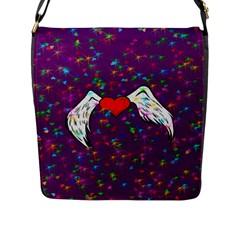 Your Heart Has Wings So Fly - Updated Flap Closure Messenger Bag (large)