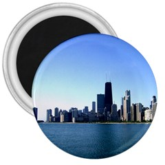 Chicago Skyline 3  Button Magnet