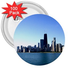 Chicago Skyline 3  Button (100 pack)