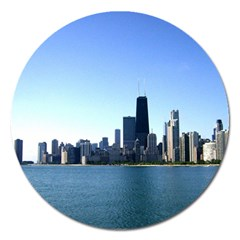 Chicago Skyline Magnet 5  (Round)
