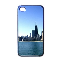 Chicago Skyline Apple Iphone 4 Case (black) by canvasngiftshop