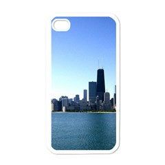 Chicago Skyline Apple iPhone 4 Case (White)