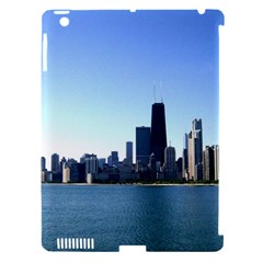 Chicago Skyline Apple Ipad 3/4 Hardshell Case (compatible With Smart Cover) by canvasngiftshop