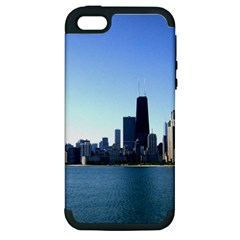 Chicago Skyline Apple iPhone 5 Hardshell Case (PC+Silicone)
