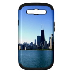 Chicago Skyline Samsung Galaxy S III Hardshell Case (PC+Silicone)