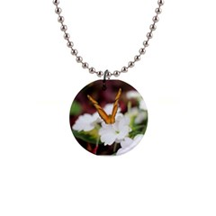 Butterfly 159 Button Necklace by pictureperfectphotography