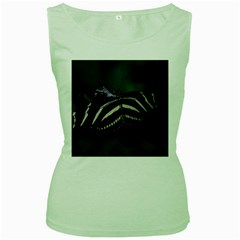 Butterfly 059 001 Womens  Tank Top (green) by pictureperfectphotography