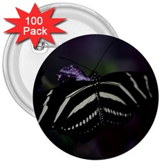 Butterfly 059 001 3  Button (100 Pack)