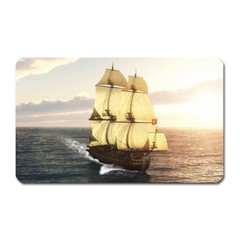 French Warship Magnet (rectangular) by gatterwe