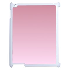 Puce To Pink Lace Gradient Apple Ipad 2 Case (white)
