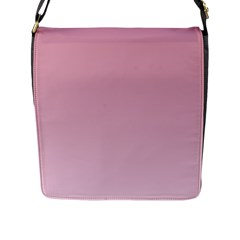 Puce To Pink Lace Gradient Flap Closure Messenger Bag (large)