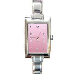 Pink Lace To Puce Gradient Rectangular Italian Charm Watch