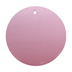 Pink Lace To Puce Gradient Round Ornament (two Sides)