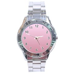 Pink Lace To Puce Gradient Stainless Steel Watch (men s)