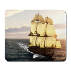 French Warship Large Mouse Pad (rectangle)