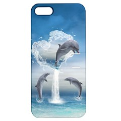 The Heart Of The Dolphins Apple Iphone 5 Hardshell Case With Stand by gatterwe