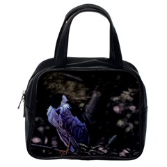 Sleeping Bird In A Tree Classic Handbag (one Side) by designsbyvee