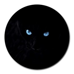 Black Cat 8  Mouse Pad (round)
