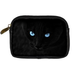 Black Cat Digital Camera Leather Case
