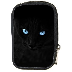 Black Cat Compact Camera Leather Case