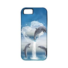 The Heart Of The Dolphins Apple Iphone 5 Classic Hardshell Case (pc+silicone) by gatterwe