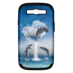 The Heart Of The Dolphins Samsung Galaxy S Iii Hardshell Case (pc+silicone) by gatterwe