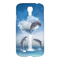 The Heart Of The Dolphins Samsung Galaxy S4 I9500 Hardshell Case by gatterwe