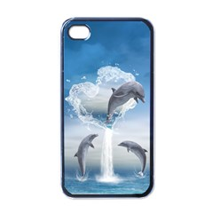 The Heart Of The Dolphins Apple Iphone 4 Case (black)