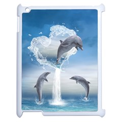 The Heart Of The Dolphins Apple Ipad 2 Case (white)