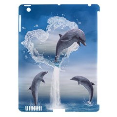 The Heart Of The Dolphins Apple Ipad 3/4 Hardshell Case (compatible With Smart Cover) by gatterwe