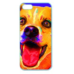 Happy Dog Apple Seamless Iphone 5 Case (color) by cutepetshop